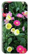 Ivory Tulips And Salmon Daisys IPhone Case