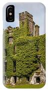 Ivy Covered Ruined Castle Ireland IPhone Case