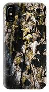 Ivy Leaves Grunge Tone IPhone Case