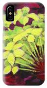 Ixora - Jungle Flame IPhone Case