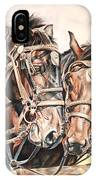 Jack And Joe Hard Workin Horses IPhone Case