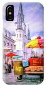 Jackson Square Scene - Painted - Nola IPhone Case