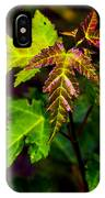 Jagged Leaves IPhone Case