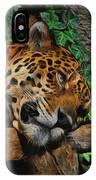 Jaguar Relaxing IPhone Case