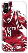 James Harden Houston Rockets Pixel Art 3 IPhone Case