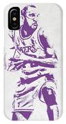 James Worthy Los Angeles Lakers Pixel Art IPhone Case