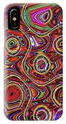 Janca Abstract Panel #097e10 IPhone Case