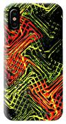 Janca Abstract Panel #5473w3 IPhone Case