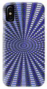 Janca Blue Oval Abstract 9646w11 IPhone Case