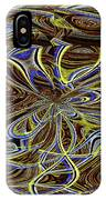 Janca Oval Abstract 4917 W3a IPhone Case