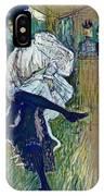 Jane Avril Dancing Circa 1892 IPhone Case