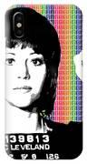 Jane Fonda Mug Shot - Rainbow IPhone Case