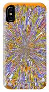 Jannell -- Floral Disk IPhone Case