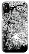 January Beauty 2 Black And White  IPhone Case