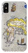 Japan: Map, 1606 IPhone Case