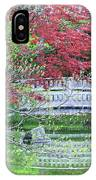 Japanese Garden Bridge In Springtime IPhone Case