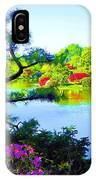 Japanese Garden In Spring IPhone Case
