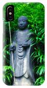Japanese House Monk Statue IPhone Case