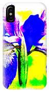 Japanese Iris Pop Art Abstract IPhone Case