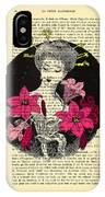 Japanese Lady With Cherry Blossoms IPhone Case