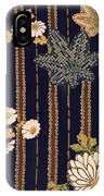 Japanese Maple And Chrysanthemum Modern Interior Art Painting. IPhone Case