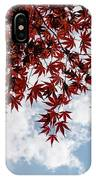 Japanese Maple Red Lace - Horizontal View Downwards Right IPhone Case
