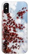 Japanese Maple Red Lace - Vertical Up Right IPhone Case