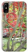 Japanese Maple Tree And Pond IPhone Case