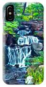 Japanese Waterfall Garden IPhone Case