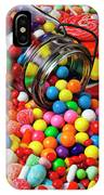 Jar Spilling Bubblegum With Candy IPhone Case
