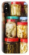 Jars Of Asian Style Pickles In Kep Market Cambodia IPhone Case