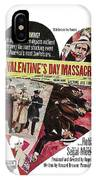 Jason Robards As Al Capone Theatrical Poster The St. Valentines Day Massacre 1967  IPhone Case