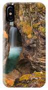 Jasper Maligne Canyon Waterfall IPhone Case