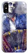 Jazz Concertina Player IPhone Case