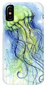 Jellyfish Watercolor IPhone Case