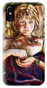 Girl And Bird Painting IPhone Case