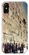 Jerusalem  Wailing Wall - To License For Professional Use Visit Granger.com IPhone Case