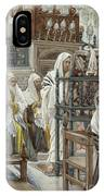 Jesus Unrolls The Book In The Synagogue IPhone Case