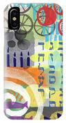 Jewish Life 1- Art By Linda Woods IPhone Case
