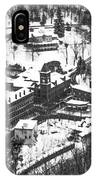 Jim Thorpe Pennsylvania In Winter In Black And White IPhone Case