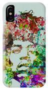 Jimmy Hendrix Watercolor IPhone Case