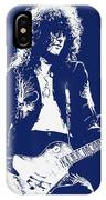 Jimmy Page In Blue Portrait IPhone Case