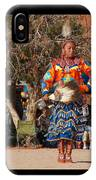 Jingle Dress Dancer At Star Feather Pow-wow IPhone Case