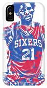 Joel Embiid Philadelphia Sixers Pixel Art 10 IPhone Case
