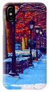 Jogging In The Snow Along Boathouse Row IPhone Case
