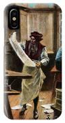 Johann Gutenberg IPhone Case