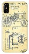 John Deere Tractor Patent Drawing From 1934 - Vintage IPhone X Case