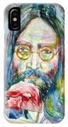 John Lennon - Watercolor Portrait.9 IPhone Case