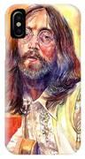 John Lennon Watercolor IPhone Case