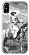 John Wayne At The Ready On Horseback Pa 01 IPhone Case
